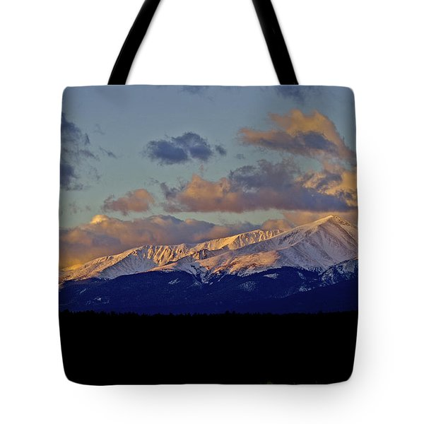 Mt Elbert Sunrise Tote Bag by Jeremy Rhoades