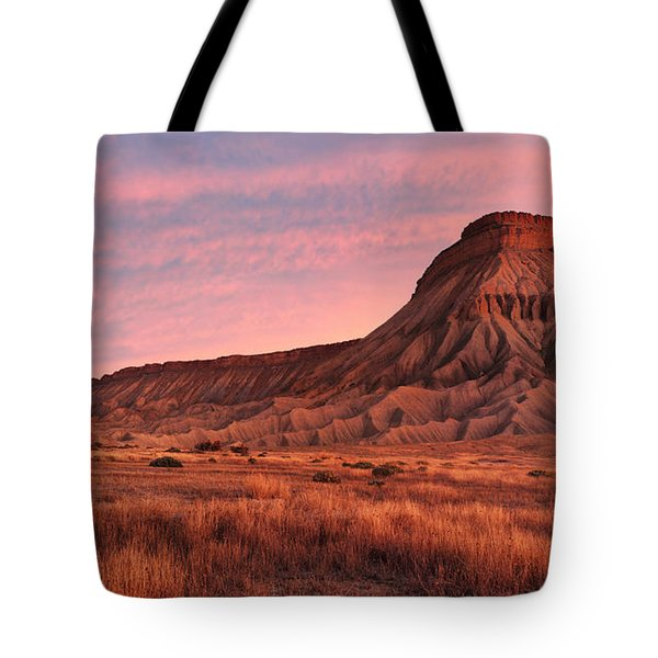 Tote Bag featuring the photograph Mt Garfield Sunrise by Ronda Kimbrow