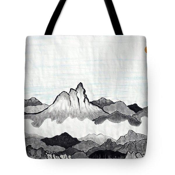 Mt. Himang Tote Bag by Taikan Nishimoto