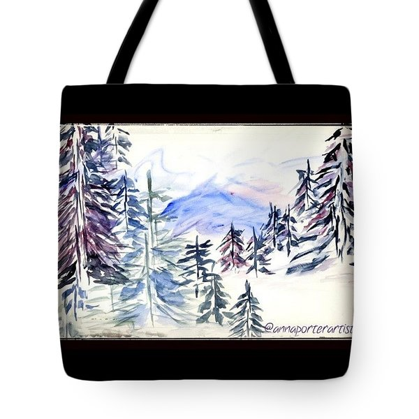 Mt. Hood From Timberline Lodge Tote Bag
