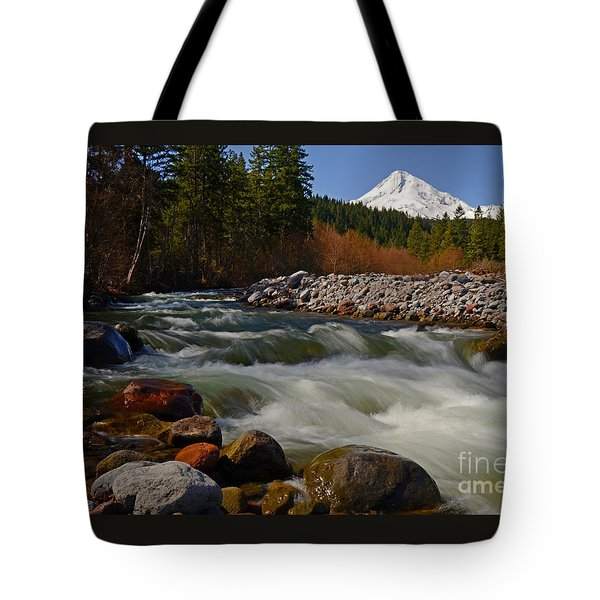 Mt. Hood Landscape Tote Bag by Nick  Boren