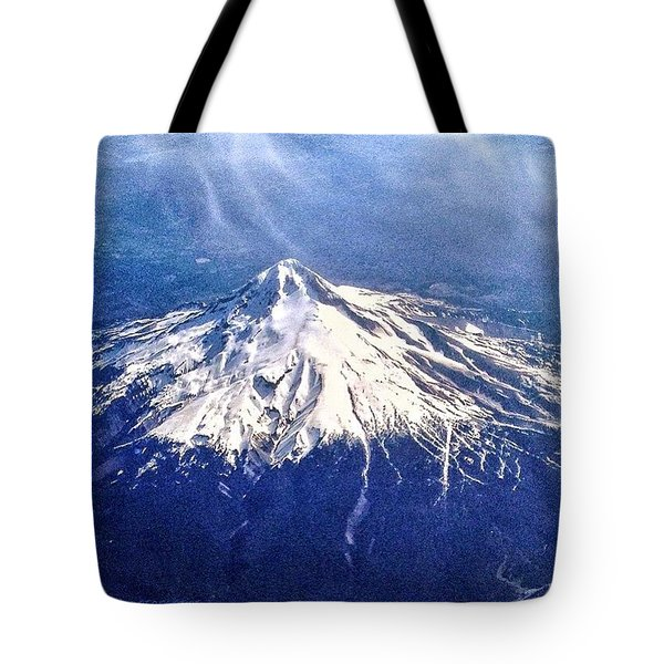 Mt. Hood, Oregon As We Flew By Today Tote Bag