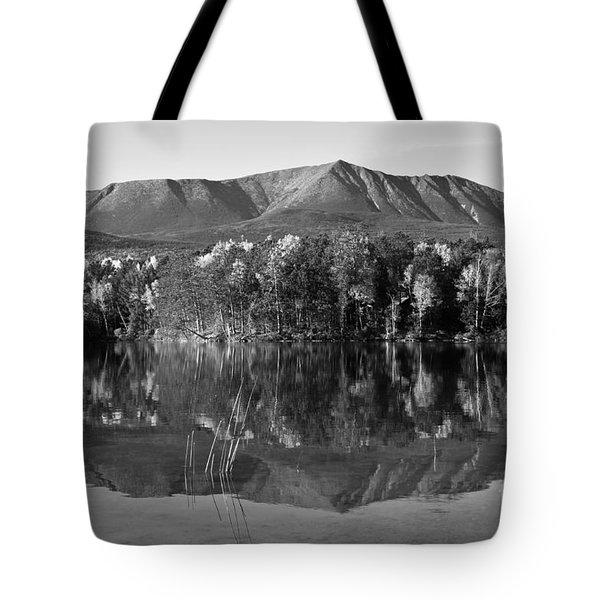 Mt Katahdin Black And White Tote Bag