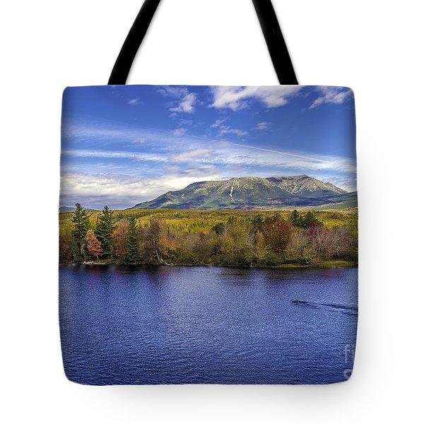 Mt Katahdin Hdr Tote Bag