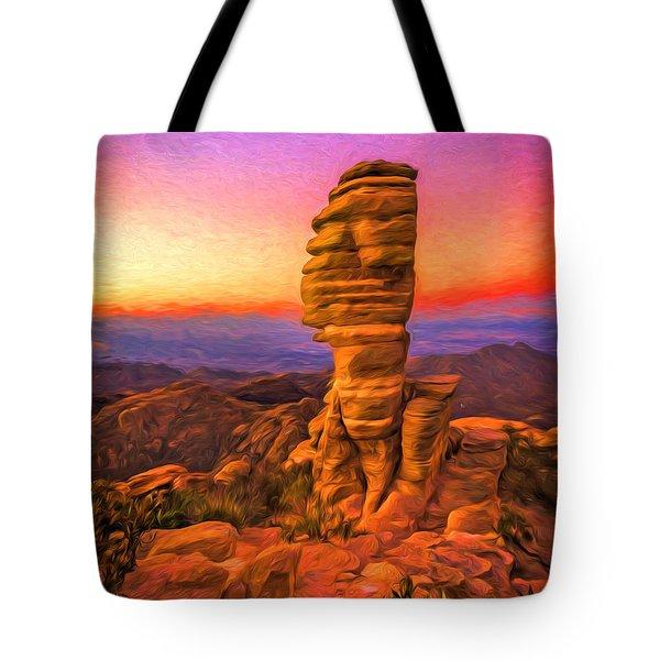 Mt. Lemmon Hoodoo Artistic Tote Bag
