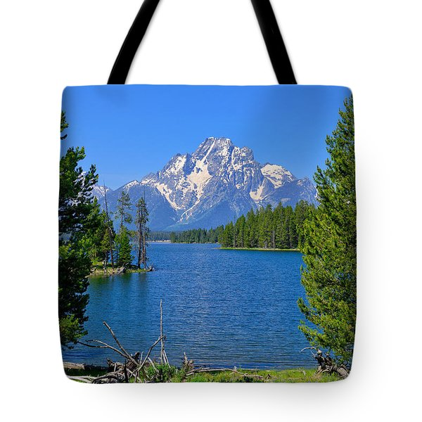 Mt Moran At Half Moon Bay Tote Bag