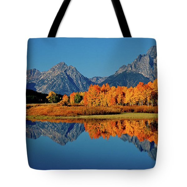Mt. Moran Reflection Tote Bag by Ed  Riche