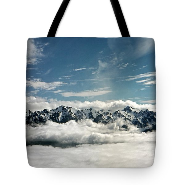 Tote Bag featuring the photograph Mt Olympus by Greg Reed