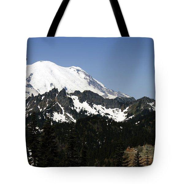 Mt Rainer From Wa-410 Tote Bag