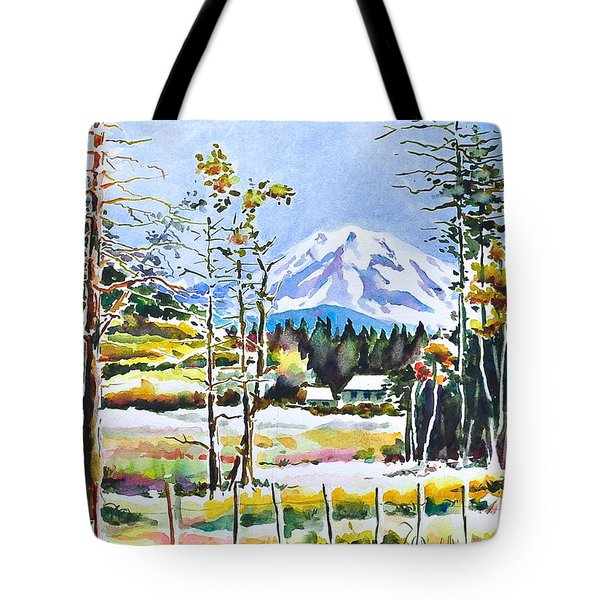 Elk Head On Mt Rainier  Tote Bag