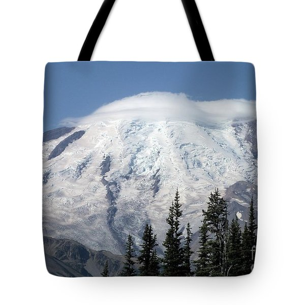 Mt. Rainier In August 2 Tote Bag by Chalet Roome-Rigdon