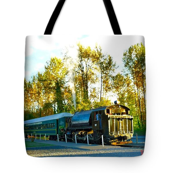 Mt Rainier W A Scenic Railroad Tote Bag by Sadie Reneau