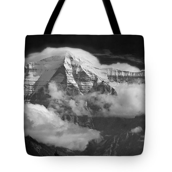 102496-mt. Robson Wreathed In Clouds Tote Bag