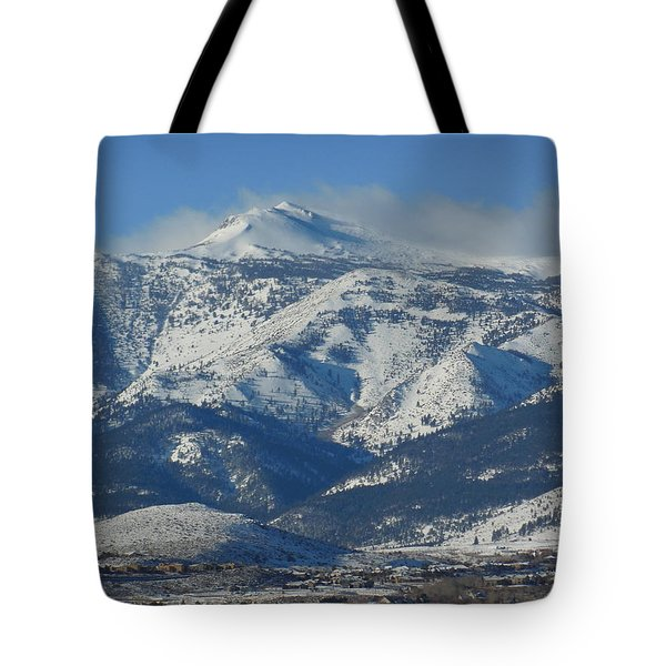 Mt Rose Reno Nevada Tote Bag