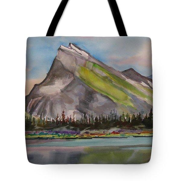 Mt. Rundle Tote Bag by Mohamed Hirji