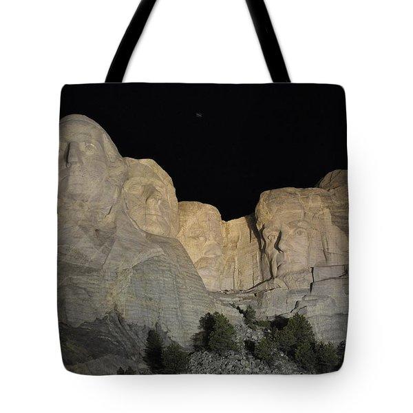 Mt. Rushmore At Night Tote Bag