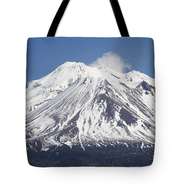 Mt Shasta California Tote Bag by Tom Janca