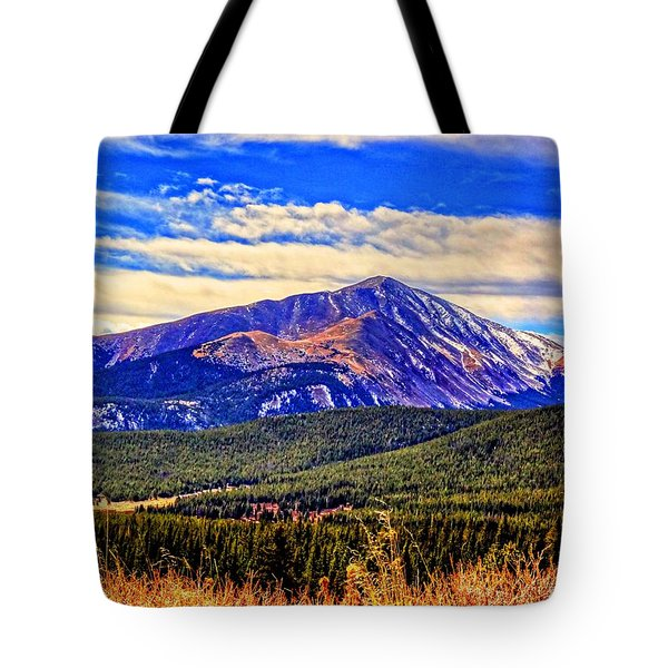 Tote Bag featuring the photograph Mt. Silverheels II by Lanita Williams