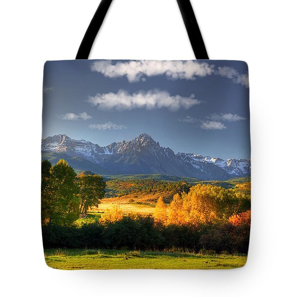 Mt Sneffels And The Dallas Divide Tote Bag