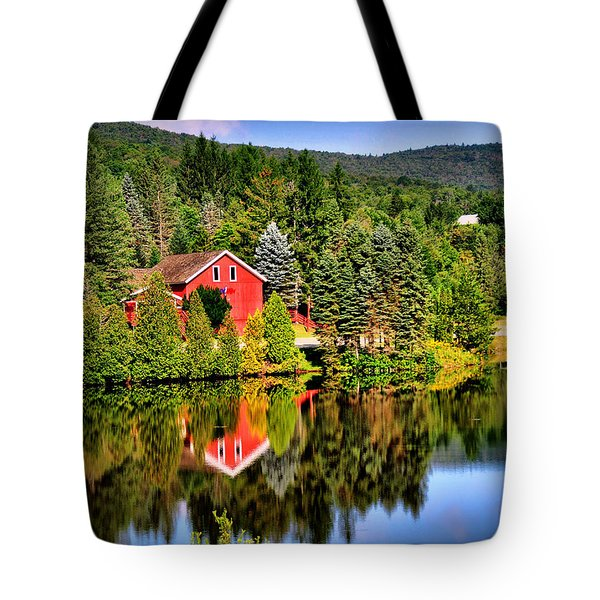 Mt. Snow In Summer Tote Bag