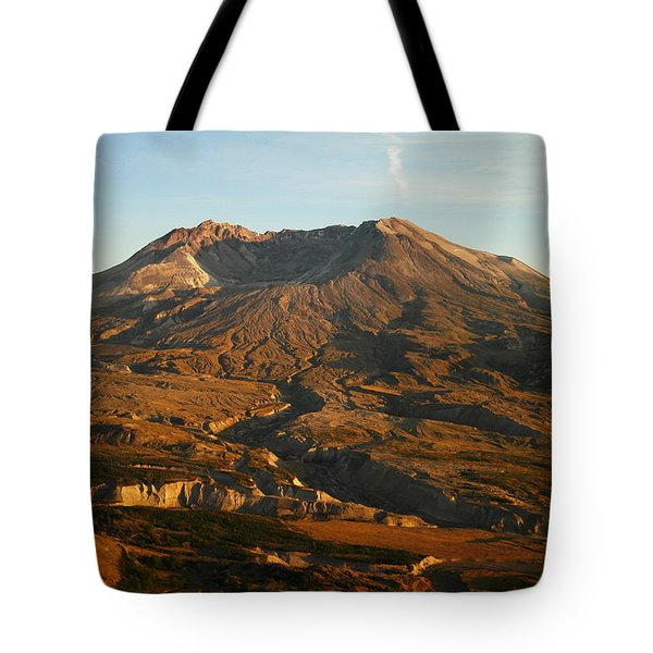Mt St Helens From Johnsons Observatory Tote Bag by Jeff Swan