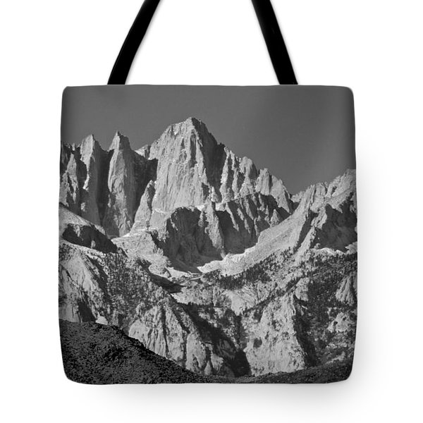 Mt. Whitney In Black And White Tote Bag