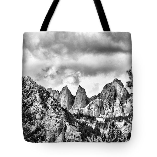 Mt. Whitney Tote Bag by Peggy Hughes