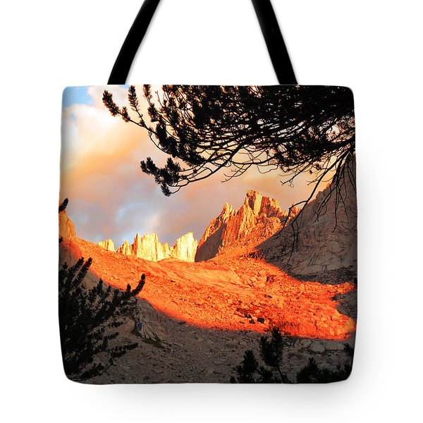 Tote Bag featuring the photograph Mt. Whitney Sunrise by Alan Socolik