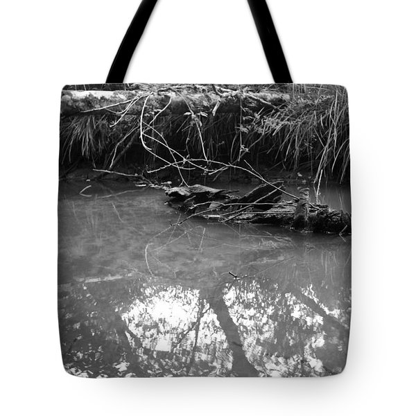 Tote Bag featuring the photograph Muddy Creek by Adria Trail