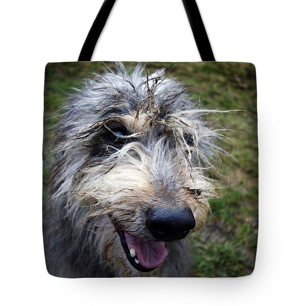 Muddy Dog Tote Bag