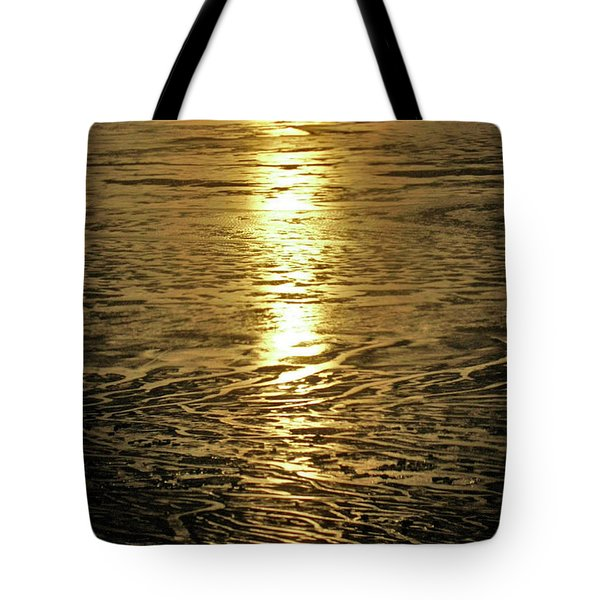 Tote Bag featuring the photograph Muddy Reflection by Jeremy Rhoades