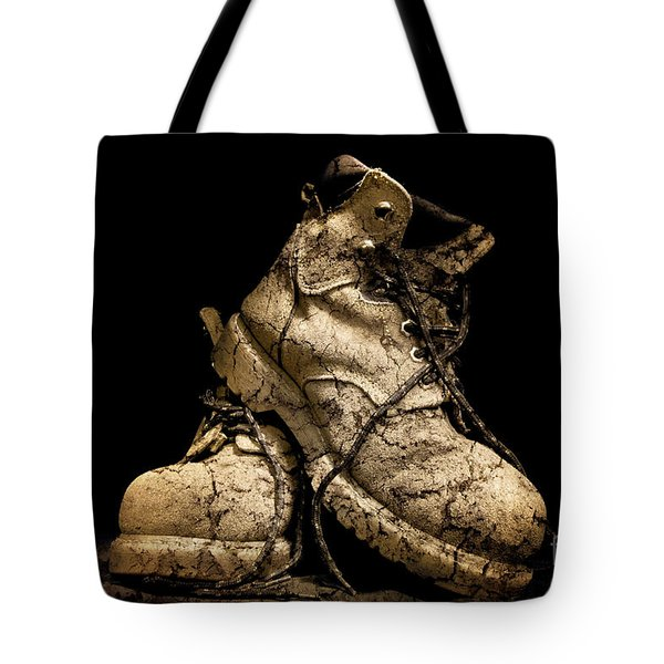 Muddy Workers Boots Tote Bag