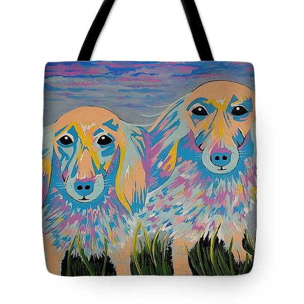 Tote Bag featuring the painting Mugi And Tatami by Kathleen Sartoris