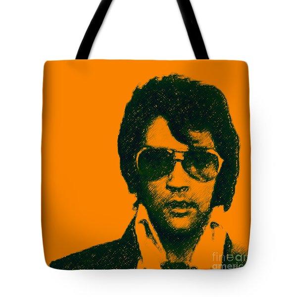 Mugshot Elvis Presley Square Tote Bag