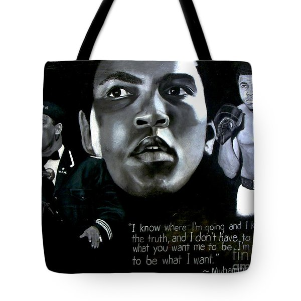 Muhammad Ali Tote Bag by Chelle Brantley