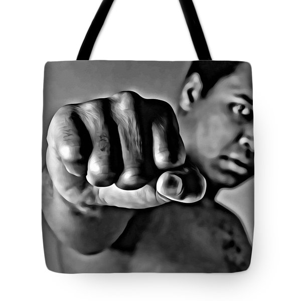 Muhammad Ali Fist Tote Bag