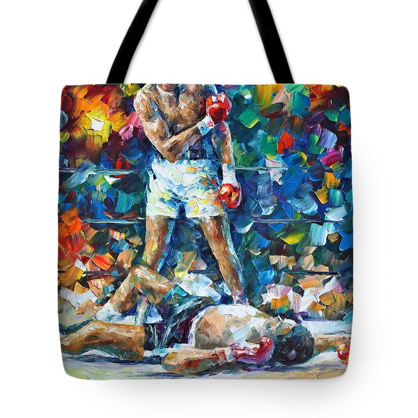 Muhammad Ali Tote Bag by Leonid Afremov