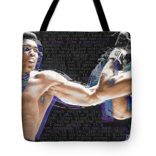 Muhammad Ali Tote Bag by Tony Rubino