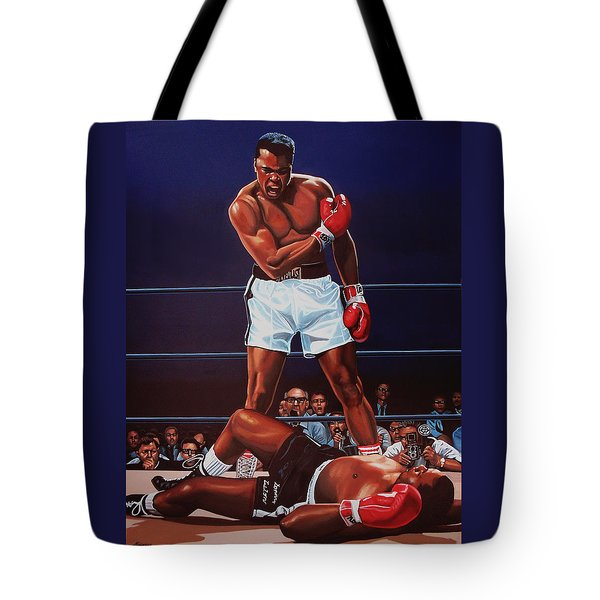 Muhammad Ali Versus Sonny Liston Tote Bag by Paul Meijering