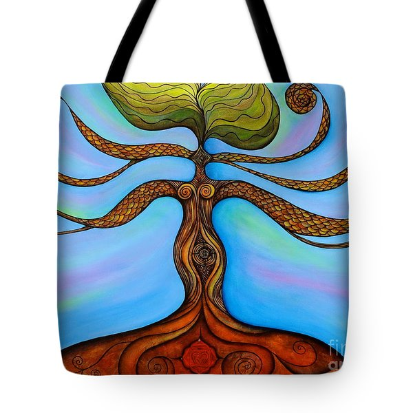Muladhara Tote Bag by Deborha Kerr