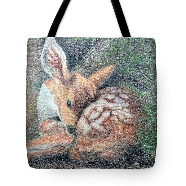 Mule Deer Fawn Tote Bag
