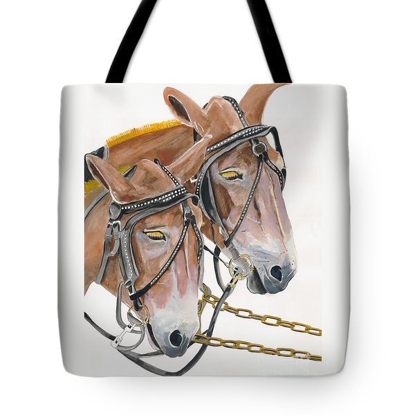 Mules - Two - Beast Of Burden Tote Bag by Jan Dappen
