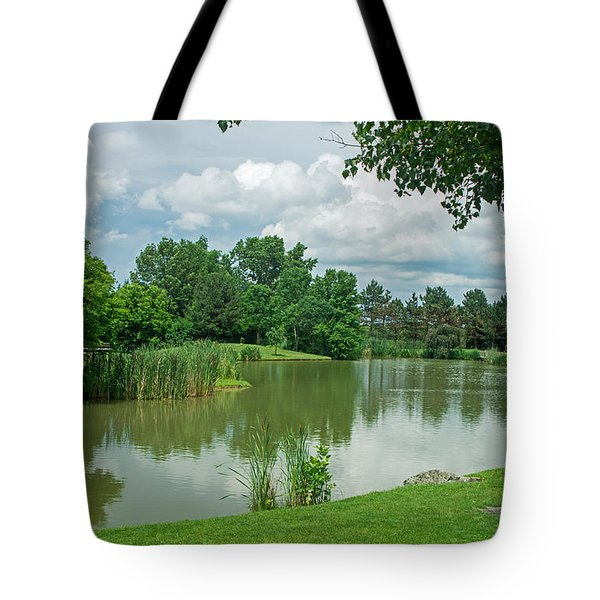 Muller Chapel Pond Ithaca College Tote Bag by Photographic Arts And Design Studio