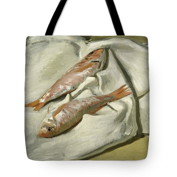 Mullets Tote Bag by Claude Monet