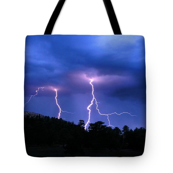 Multi Arc Lightning Strike Tote Bag