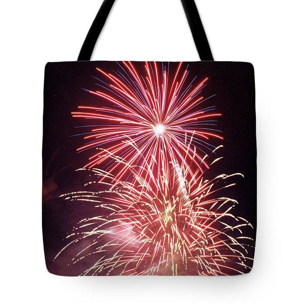 4th Of July Fireworks 1 Tote Bag by Howard Tenke