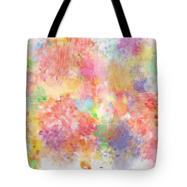 Multi Colored Ditgital Abstract 5 Tote Bag by Debbie Portwood