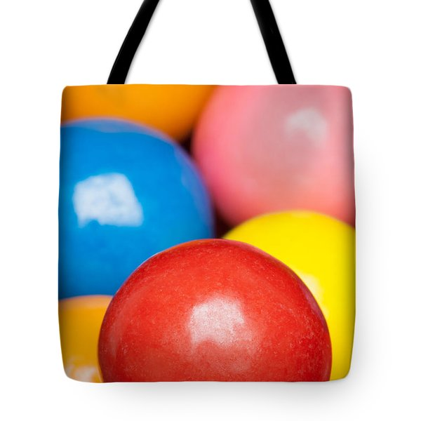 Tote Bag featuring the photograph Multi-colored Gumballs by Bryan Mullennix