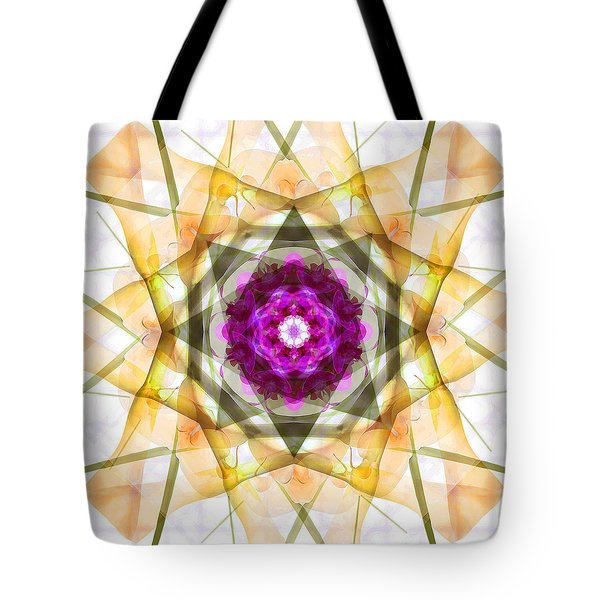 Multi Flower Abstract Tote Bag by Mike McGlothlen