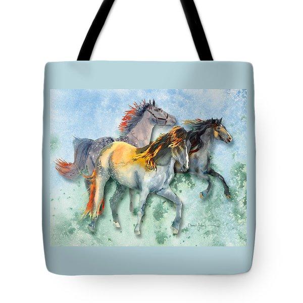 Da132 Multi - Horses Daniel Adams Tote Bag